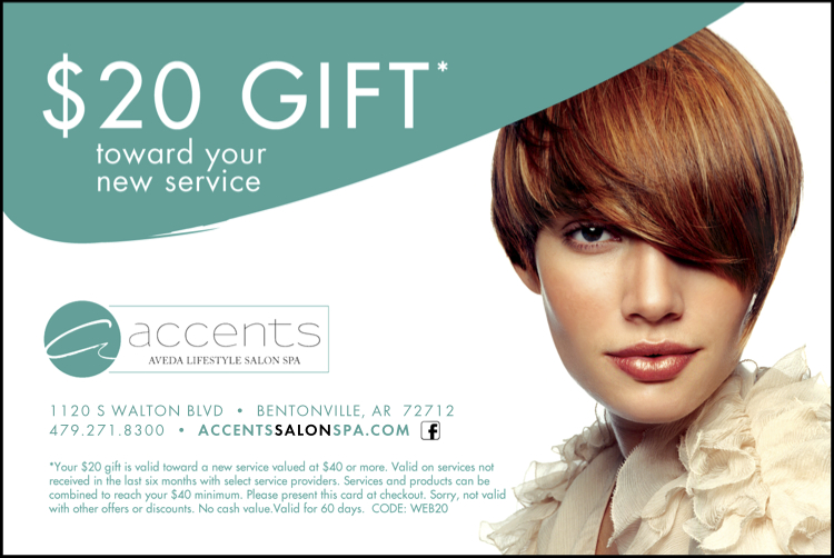 Accents salon spa specials for Accents salon bentonville ar